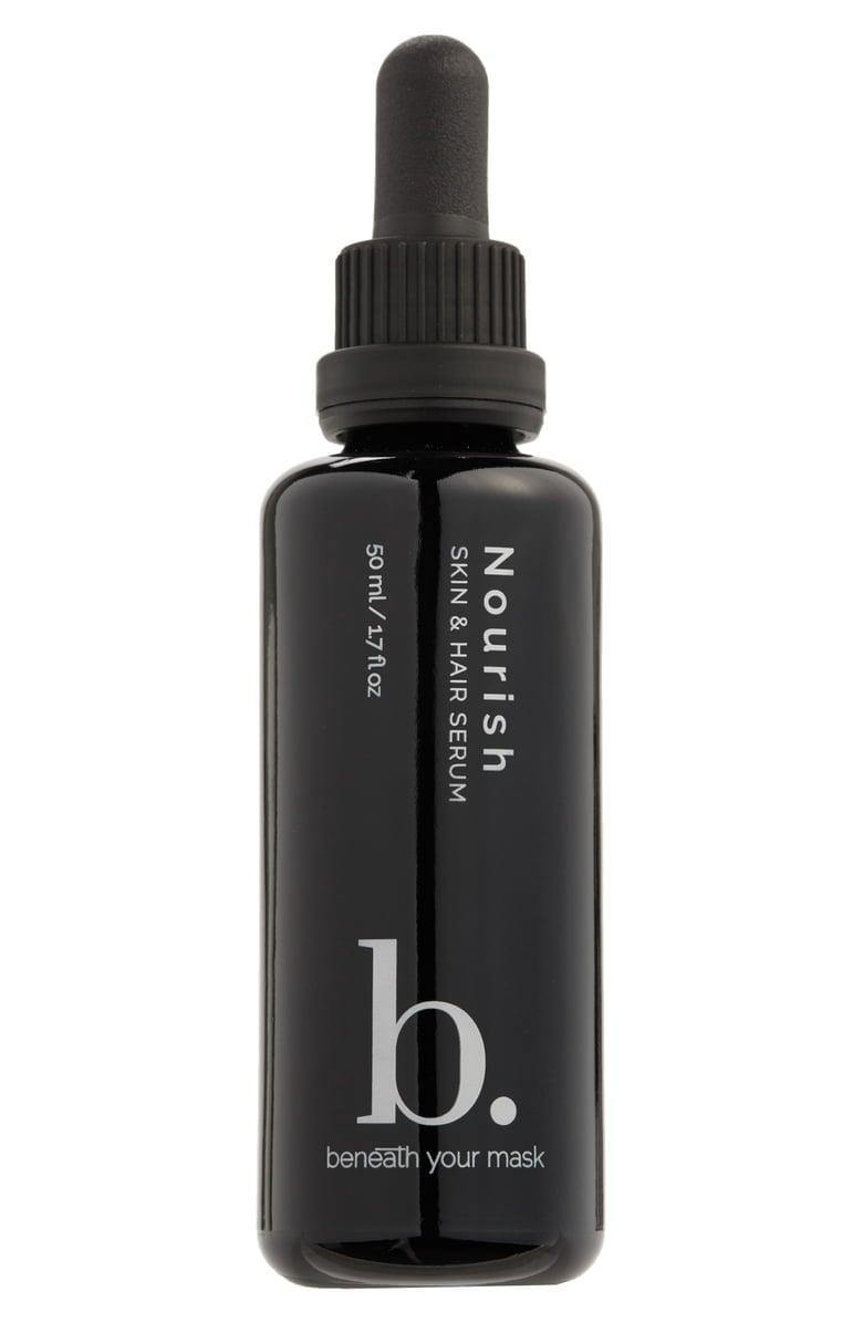 <p>The <span>Beneath Your Mask Nourish Skin & Hair Serum</span> ($60) is another multi-use product for your skin and hair. It's made with plant and essential oils and is packed with vitamins B, C, and E. </p>