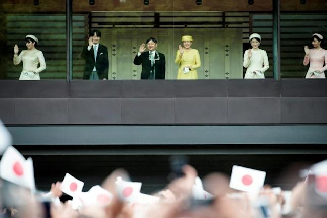A public parade for the royal couple has been postponed after a devastating typhoon in Japan (AFP Photo/Behrouz MEHRI)