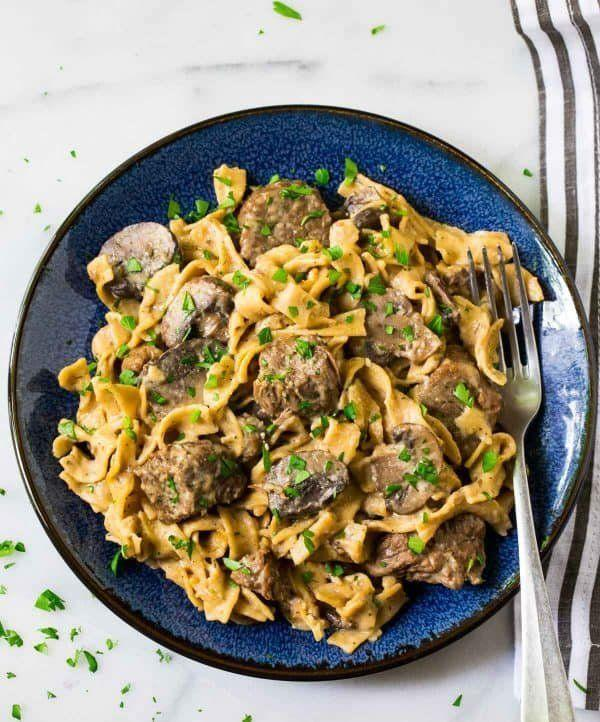 "<strong>Get the <a href=""https://www.wellplated.com/instant-pot-beef-stroganoff/"" target=""_blank"" rel=""noopener noreferrer"">Instant Pot Beef Stroganoff</a> recipe from Well Plated.</strong>"