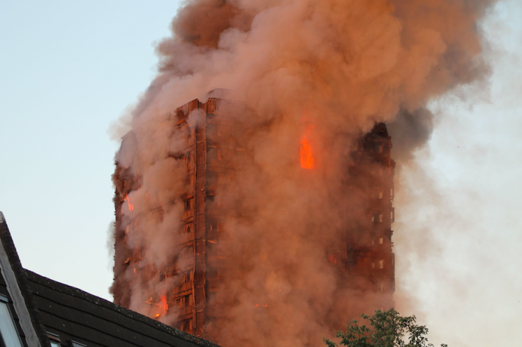 Many people are still missing after the fire ravaged the tower block (Rex)
