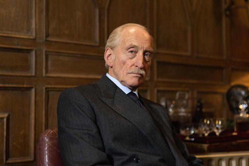 Charles Dance makes his entrance as British intelligence officer Picton (Picture: BBC)