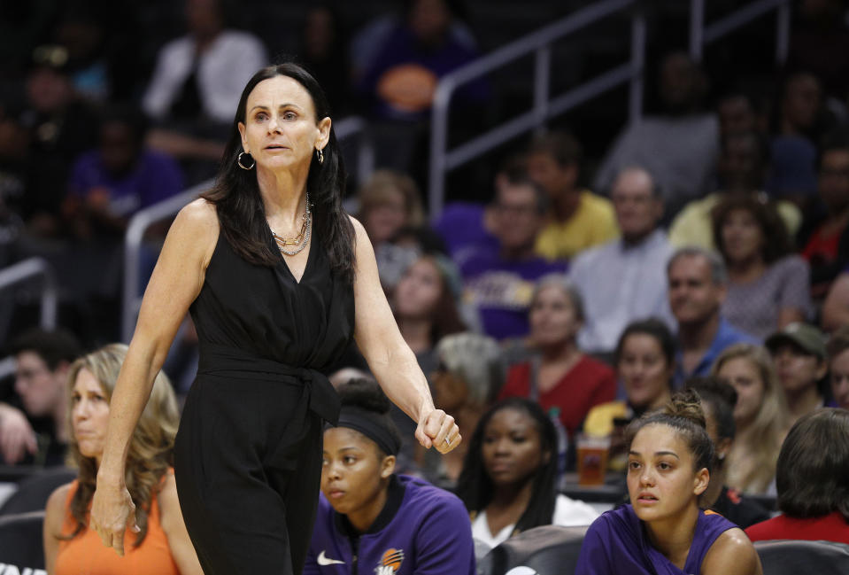 """Mercury coach Sandy Brondello and her husband, Sky assistant Olaf Lange, have opted to separate in the WNBA bubble to maintain """"professional integrity."""""""