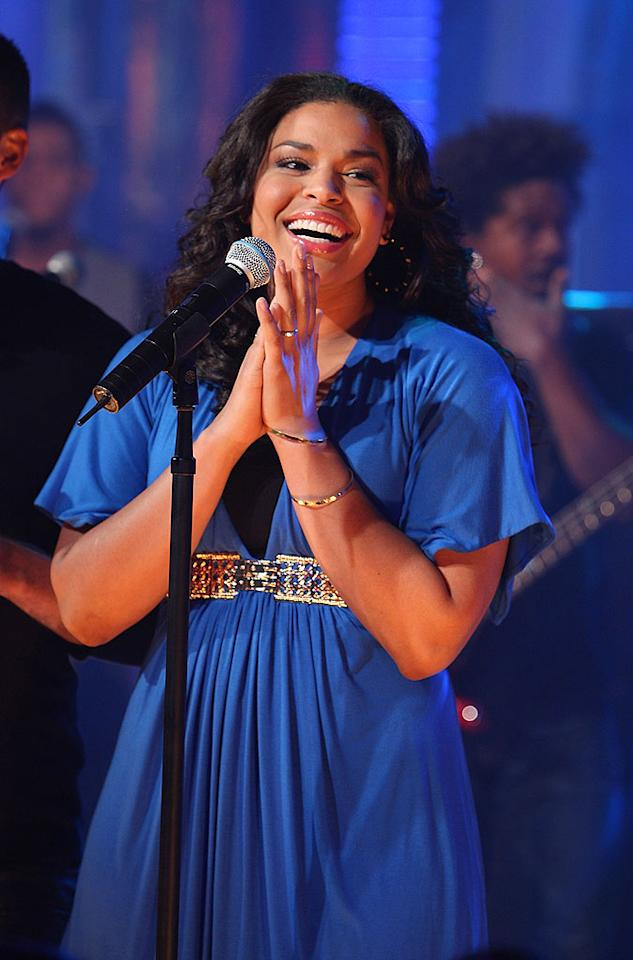 "The reigning ""American Idol"" champion Jordin Sparks winds up a busy day at MTV with a performance of her first hit, ""Tattoo."" Theo Wargo/<a href=""http://www.wireimage.com"" target=""new"">WireImage.com</a> - February 25, 2008"