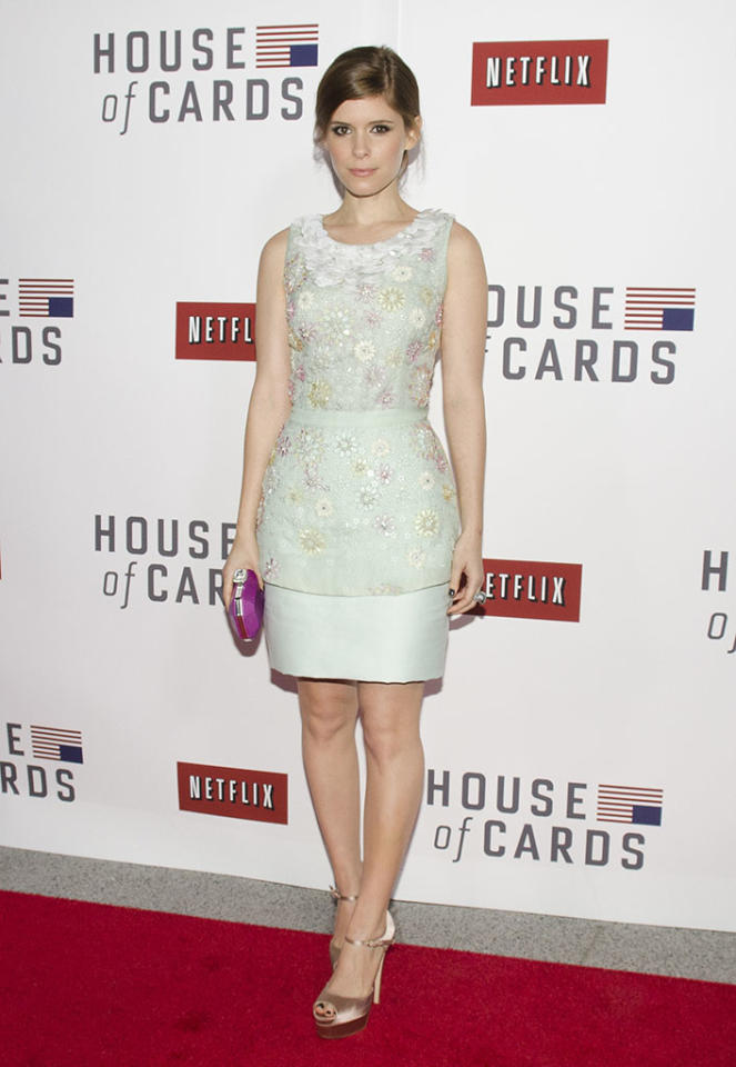 """Kate Mara attends Netflix's """"House of Cards"""" Washington DC Screening at the NEWSEUM on January 29, 2013 in Washington, DC."""