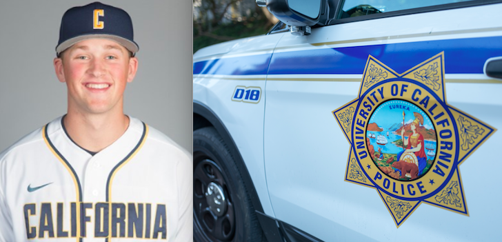 Cal pitcher Jared Horn was involved in a car accident. (Photos via calbears.com and Getty Images)