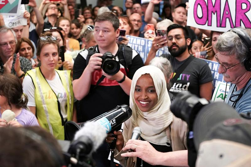 Ilhan Omar Supporters Rally Round With Incredible Homecoming After Trump's Racist Attacks