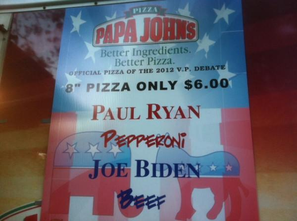 Get you Paul Pepperoni and Biden Beef pizza here
