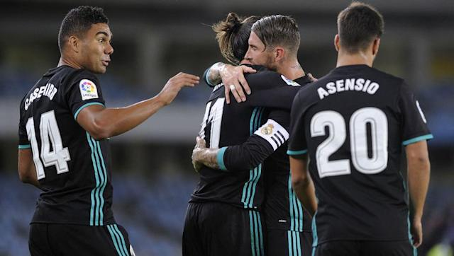<p>Saturday's trip to Real Sociedad was a real test for Real Madrid, who were missing two of their star attackers but still managed to grab an all-important three points.</p> <br><p>With Karim Benzema out injured and Cristiano Ronaldo suspended, Gareth Bale was tasked with leading an inexperienced forward line and delivered superbly, scoring a brilliant goal as Los Blancos secured a 3-1 win away from home.</p> <br><p>Borja Mayoral opened the scored for Zinedine Zidane's side before Sociedad's Kevin Rodrigues managed both an equaliser and an own goal, with Bale netting the third in the second half.</p>