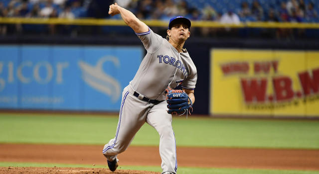 The Toronto Blue Jays have moved on from Roberto Osuna. (Julio Aguilar/Getty Images)
