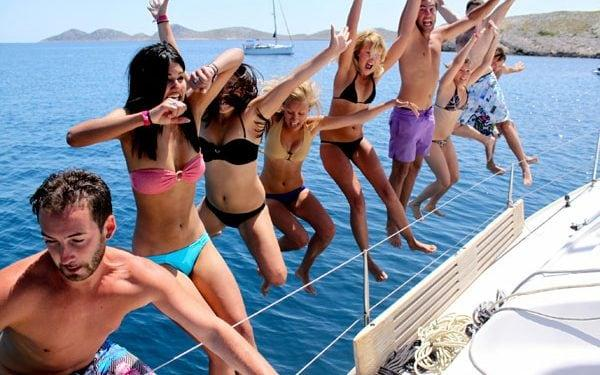 A break from studies on a yacht chartered through The Yacht House