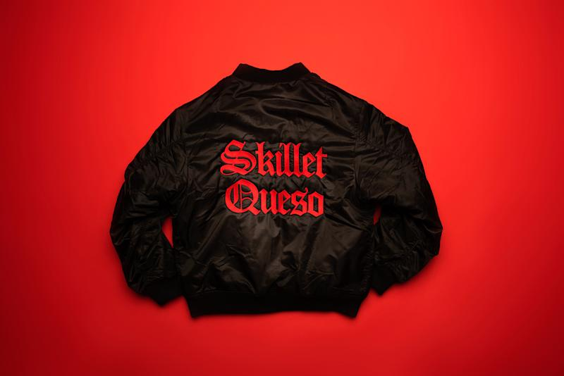 Know what keeps you warm? Chili's Skillet Queso. But so does our Skillet Queso bomber jacket, which we're giving away on social, so follow along!