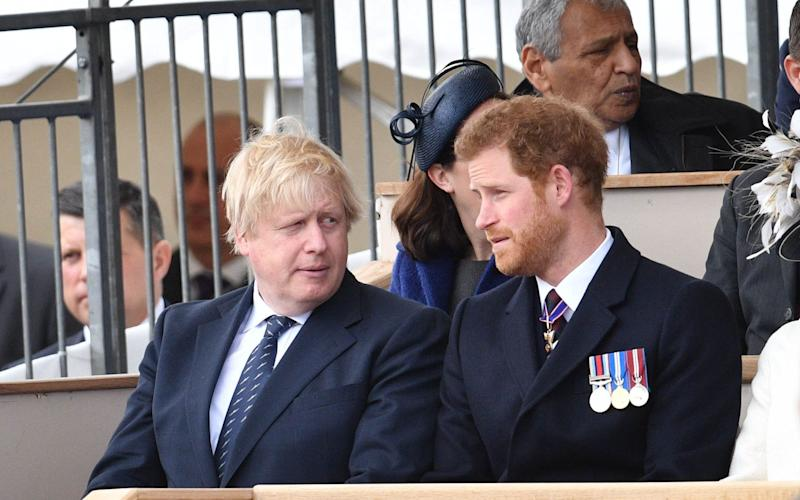 Boris Johnson and Prince Harry - Credit: REX