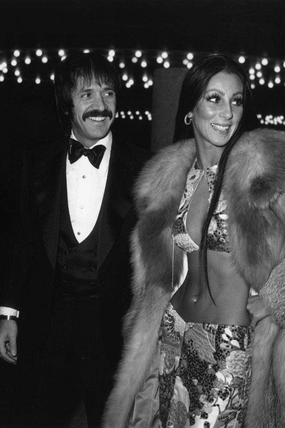 <p>We can always count on this diva to give us an over-the-top look. In true '70s fashion, Cher donned this skin-baring two-piece. </p>