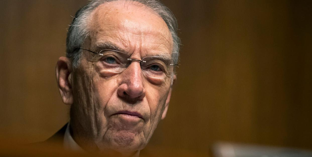Sen. Chuck Grassley is fond of the tax disclosure law, but apparently not when Democrats use it. (Photo: Associated Press)