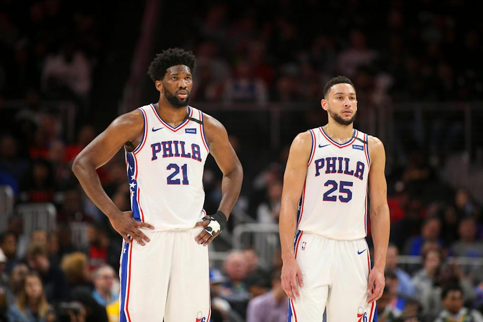 If the Sixers can't convince Ben Simmons (25) to return to the team, they would be looking to trade for a player who could help All-Star center Joel Embiid deliver a title.