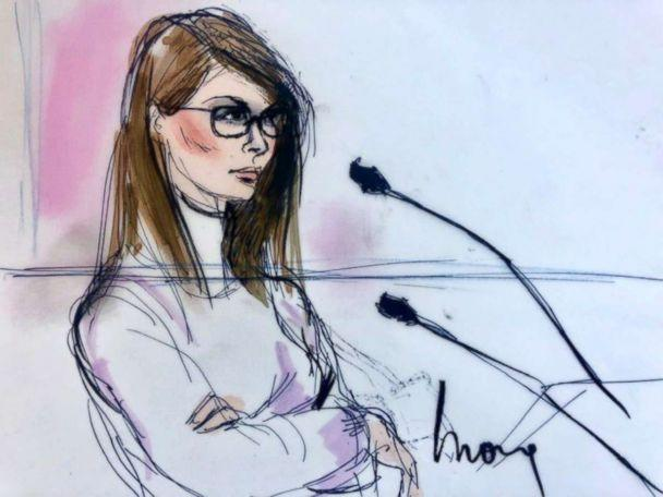 PHOTO: Lori Loughlin appears in court, March 13, 2019. (Mona Shafer Edwards)