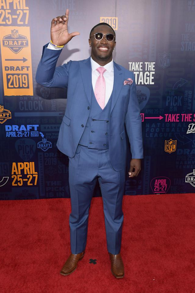 Football player Devin White attends the 2019 NFL Draft on April 25, 2019 in Nashville, Tennessee. (Photo by Jason Kempin/Getty Images)