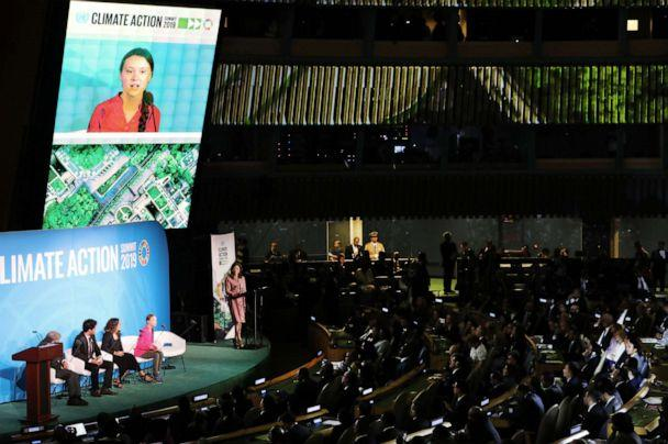 PHOTO: Greta Thunberg speaks at the United Nations (UN) Climate Action Summit on Sept. 23, 2019 in New York City. (Spencer Platt/Getty Images)