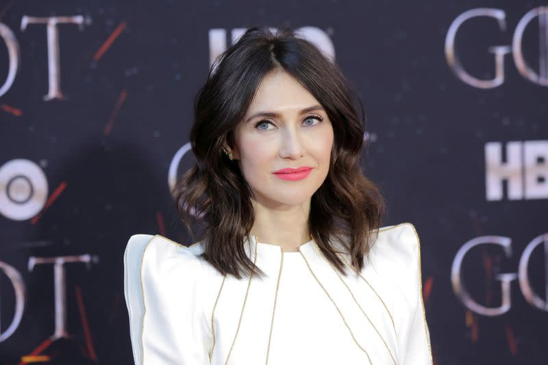 """FILE PHOTO: Carice van Houten arrives for the premiere of the final season of """"Game of Thrones"""" at Radio City Music Hall in New York"""