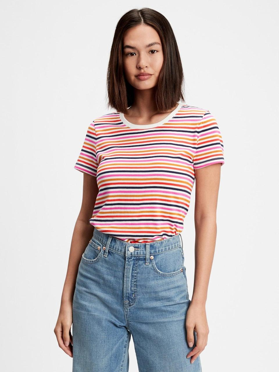 <p>You just found your new weekend <span>Gap Factory Favorite Crewneck T-Shirt</span> ($12, originally $20).</p>