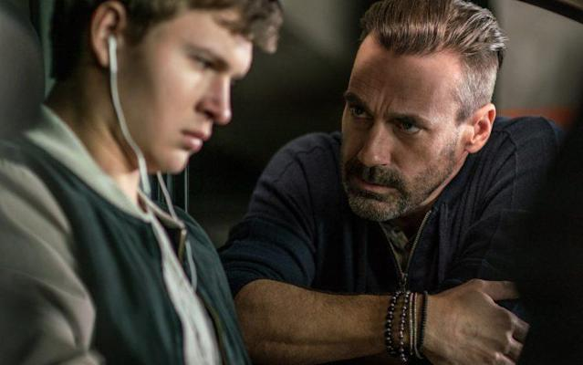 Ansel Elgort and Jon Hamm in 'Baby Driver' (Sony)