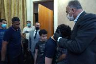 Iraqi Prime Minister Mustafa al-Kadhimi visits and offers condolences to the family of the late former government advisor and political analyst Hisham al-Hashemi, who was killed by gunmen, in Baghdad