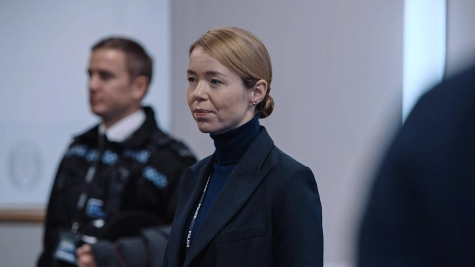 WARNING: Embargoed for publication until 00:00:01 on 13/04/2021 - Programme Name: Line of Duty S6 - TX: n/a - Episode: Line Of Duty - Ep 5 (No. n/a) - Picture Shows:  Carmichael (ANNA MAXWELL MARTIN) - (C) World Productions - Photographer: Screen Grab