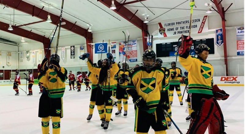 Jamaica might just turn into a hockey powerhouse. (Photo via @LoopJamaica/Twitter)