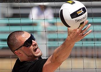 Love made his pro beach volleyball debut at the Manhattan Open. He and partner Hans Stolfus lost to Sean Scott and John Hyden