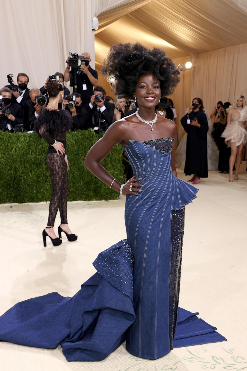 """<h1 class=""""title"""">Lupita Nyong'o, The 2021 Met Gala Celebrating In America: A Lexicon Of Fashion - Arrivals</h1><cite class=""""credit"""">Getty</cite>"""