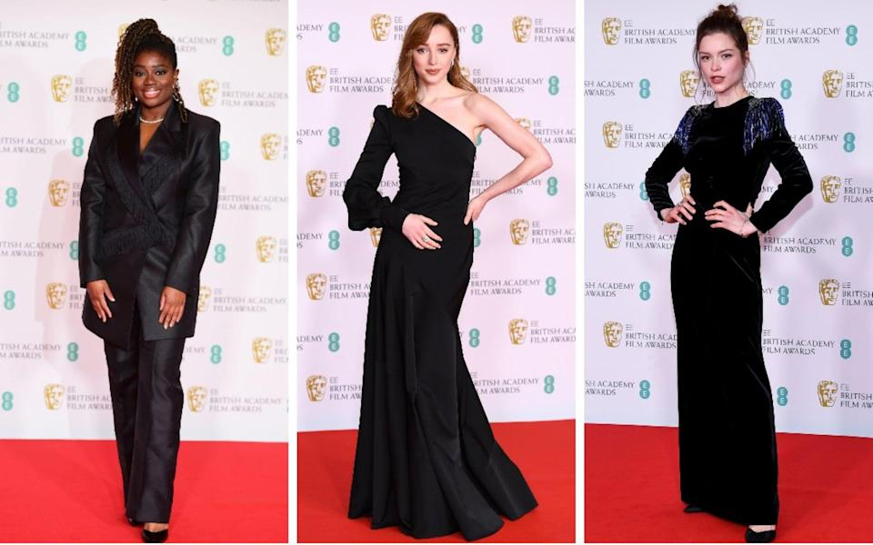 Clara Amfo, Phoebe Dynevor and Sophie Cookson