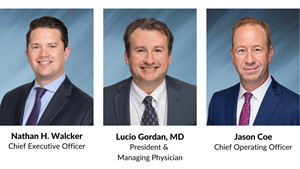 Chief Executive Officer Nathan H. Walcker; President & Managing Physician Lucio Gordan, MD; Chief Operating Officer Jason Coe