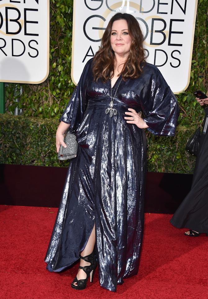 "<p>Melissa McCarthy didn't just buy her own dress — she helped create it. After finding it difficult to get designers to dress her, even as she became more and more famous, the ""Bridesmaids"" star was inspired to create her own fashion line, which she wore to last year's Golden Globes. </p>"