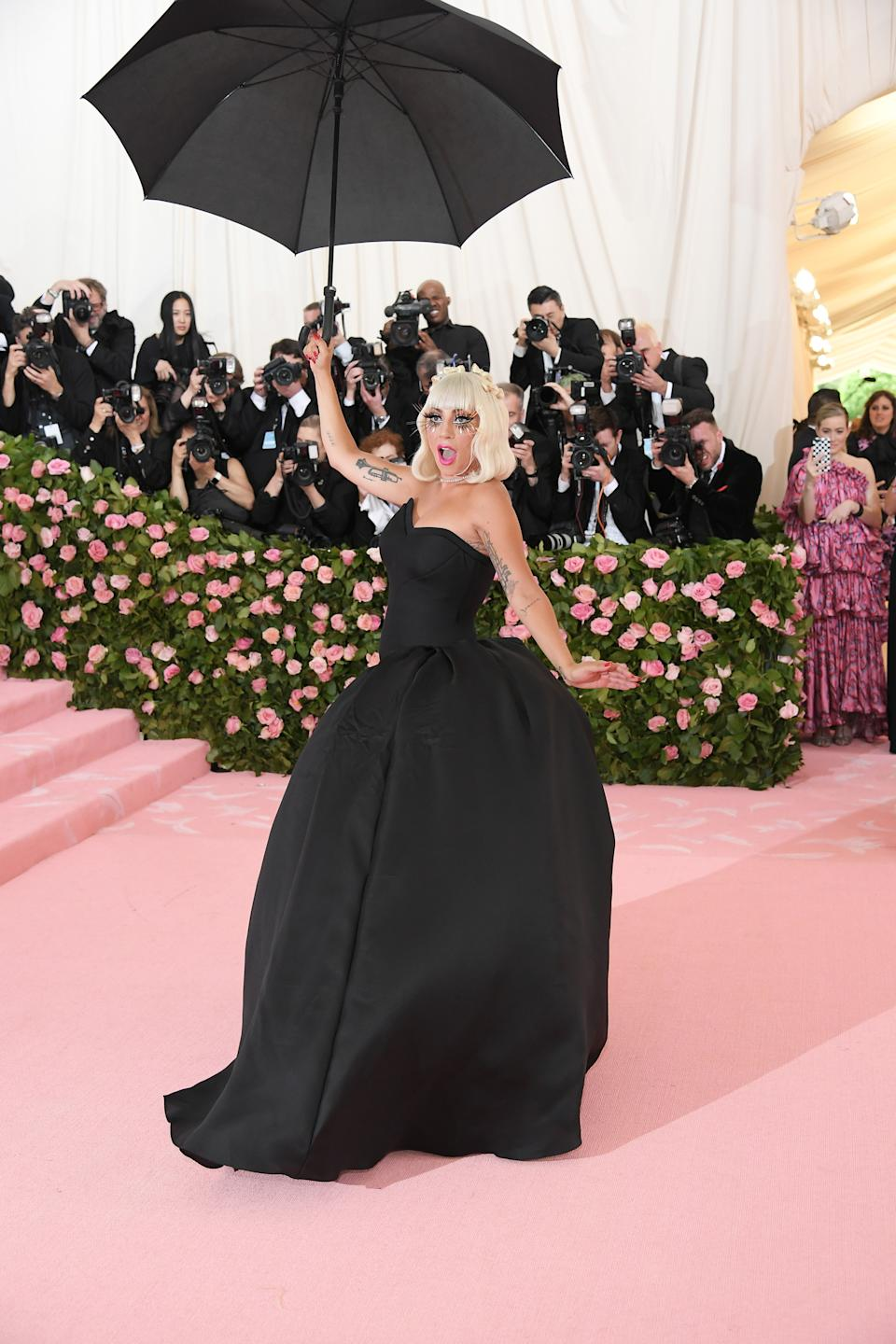 """<h1 class=""""title"""">Lady Gaga in Brandon Maxwell wearing Tiffany & Co. jewelry</h1><cite class=""""credit"""">Photo: Getty Images</cite>"""