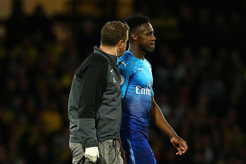 Injury woes: Welbeck limped out of Arsenal's defeat at Watford: Getty Images