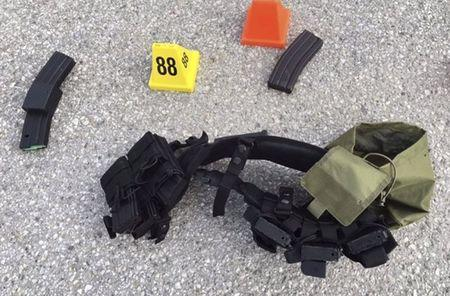 Ammunition confiscated from last Wednesday's attack in San Bernardino, California