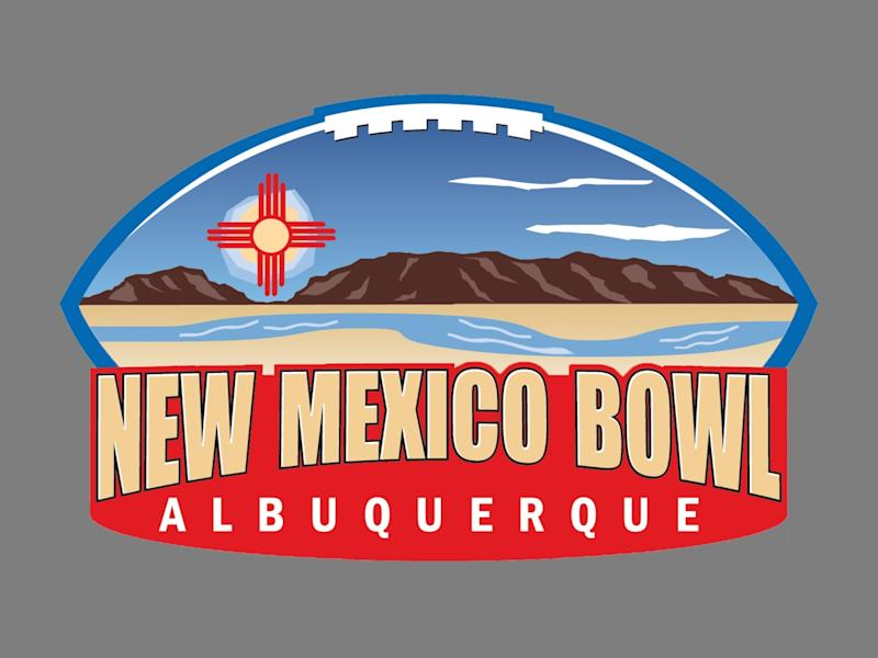 2019 NEW MEXICO BOWL logo, graphic element on gray