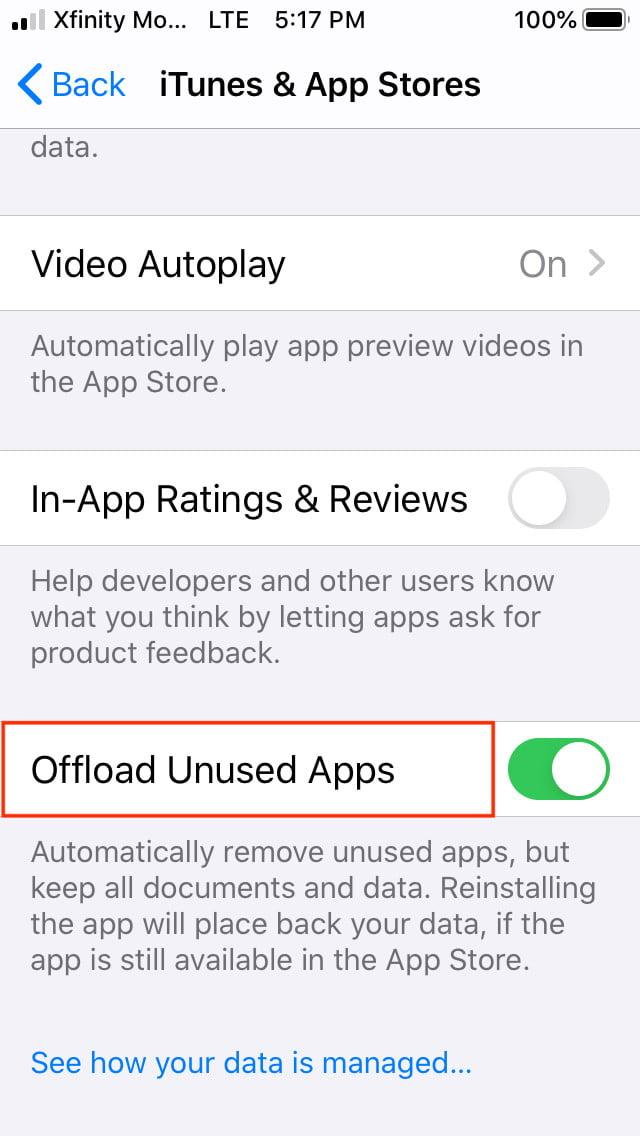 how to offload ios apps auto offload3