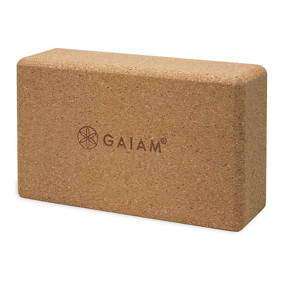 """<p><strong>Gaiam</strong></p><p>gaiam.com</p><p><strong>$14.98</strong></p><p><a href=""""https://go.redirectingat.com?id=74968X1596630&url=https%3A%2F%2Fwww.gaiam.com%2Fproducts%2F05-52292&sref=https%3A%2F%2Fwww.prevention.com%2Ffitness%2Fworkout-clothes-gear%2Fg32420524%2Fbest-yoga-blocks%2F"""" rel=""""nofollow noopener"""" target=""""_blank"""" data-ylk=""""slk:Shop Now"""" class=""""link rapid-noclick-resp"""">Shop Now</a></p><p>Experts tell us <strong>cork yoga blocks are their absolute favorite because of their density and supportiveness</strong>. And this one, by yoga brand Gaiam, is our <em>favorite</em> favorite—especially if tend to sweat a lot or like hot yoga. """"I love them,"""" agrees one Gaiam reviewer. """"They are a nice size and the weight is just right, not too heavy. I enjoy them very much.""""</p>"""