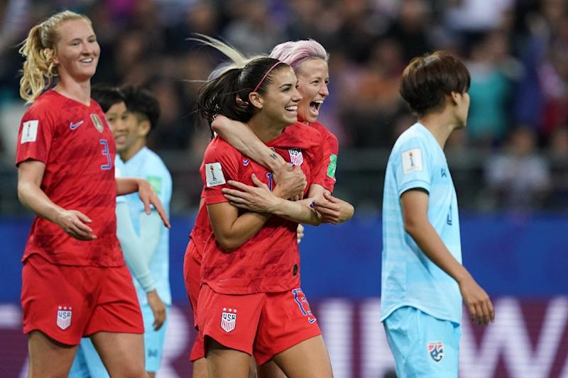 U.S.  players criticised for excessive goal celebrations after thrashing Thailand 13-0