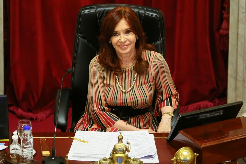 FILE PHOTO: Argentine senators attend a session to debate an abortion bill in Buenos Aires