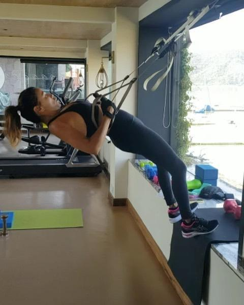 "<p>Watch Eva crush a set of inverted rows using the <a href=""https://www.womenshealthmag.com/uk/fitness/workouts/a704931/trx-training-exercises-full-body-workout/"" rel=""nofollow noopener"" target=""_blank"" data-ylk=""slk:TRX Suspension System"" class=""link rapid-noclick-resp"">TRX Suspension System</a> (sheesh!). The added instability of the ropes really causes your muscles to activate and fire up, increasing the challenge level significantly. Her celeb followers couldn't help but take note of her crazy strength. 'Beast mode,' wrote <a href=""https://www.womenshealthmag.com/fitness/a30336177/gabrielle-union-cardio-workout/"" rel=""nofollow noopener"" target=""_blank"" data-ylk=""slk:Gabrielle Union"" class=""link rapid-noclick-resp"">Gabrielle Union</a> in the comments. 'Good Lord. Ok.' added Debra Messing. </p><p>When asked about her workout style, her trainer Grant Roberts told <a href=""https://hollywoodlife.com/2019/11/15/eva-longoria-workout-secrets-trainer-exercise-tips-fitness/"" rel=""nofollow noopener"" target=""_blank"" data-ylk=""slk:Hollywood Life"" class=""link rapid-noclick-resp"">Hollywood Life</a> that she's never in a bad mood and puts in the work. 'I mean, she is superhuman, I don't know how else to explain it,' he said. </p><p><a href=""https://www.instagram.com/p/CE2F_6OneXZ/?utm_source=ig_embed&utm_campaign=loading"" rel=""nofollow noopener"" target=""_blank"" data-ylk=""slk:See the original post on Instagram"" class=""link rapid-noclick-resp"">See the original post on Instagram</a></p>"