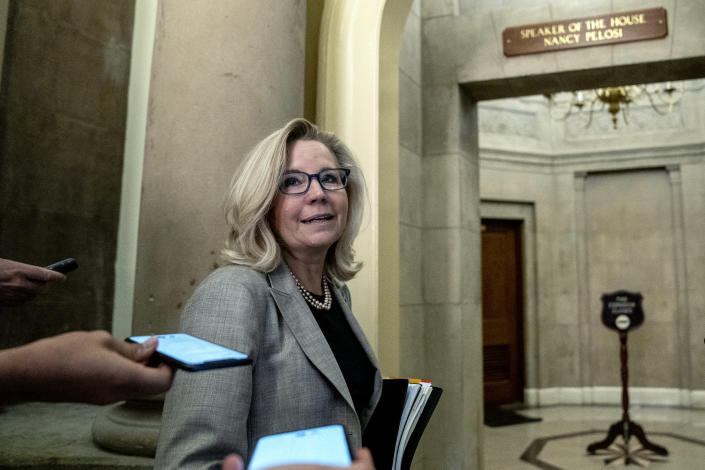 Rep. Liz Cheney (R-Wyo.) has vocally opposed former President Donald Trump, who has pushed his party to remove her from office. (Stefani Reynolds/The New York Times)