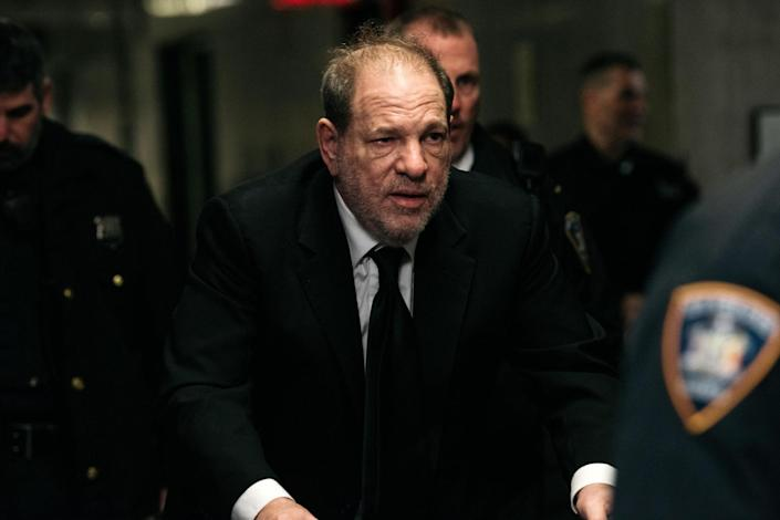 Harvey Weinstein arrives for his trial on 16 January 2020 in New York City: Scott Heins/Getty Images
