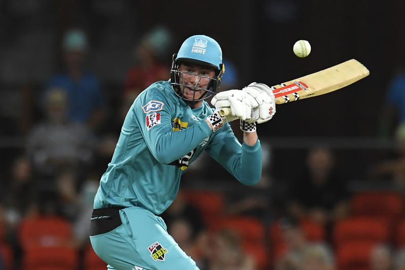 Matthew Renshaw of the Heat bats during the Big Bash League match between the Brisbane Heat and the Melbourne Stars at Metricon Stadium on December 20, 2019 in Gold Coast, Australia.