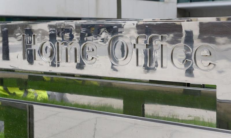 Home Office signage outside the department building in London