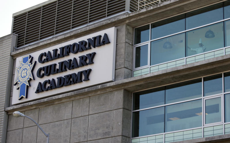 In this Sept. 1, 2011 photo is the California Culinary Academy, which is part of the Le Cordon Bleu chain of for-profit cooking schools, in San Francisco. The chain is coming under fire for its marketing practices as its graduates struggle to find culinary jobs and pay off their hefty student loans.  Across the country, for-profit vocational schools are facing heavy criticism for former students who can't find jobs that pay enough to repay their student loans, most of which are subsidized by the federal government. (AP Photo/Eric Risberg)