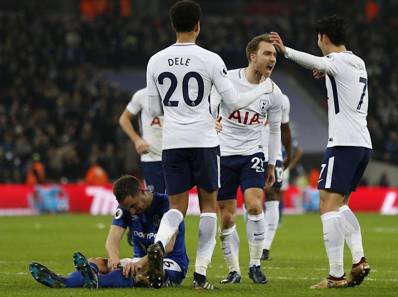 Eriksen added the fourth late on (Getty)
