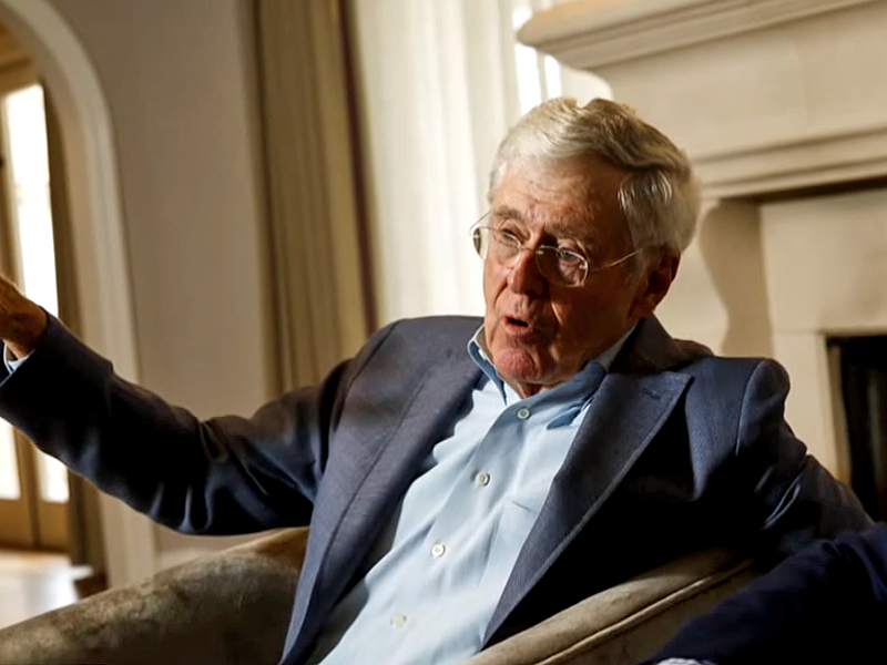 """<p>No. 7 (tie): Charles Koch<br /> Net worth: $47.9 billion<br /> Age: 81<br /> Country: US<br /> Industry: Diversified investments<br /> Source of wealth: Inheritance/self-made; Koch Industries<br /> Charles Koch is chairman and CEO of multifaceted conglomerate Koch Industries, the second-largest private company in America. His younger brother David is the executive vice president. The company employs 100,000 people and generates $100 billion in sales from its diverse holdings, which make everything from petrochemicals and Dixie Cups to raw clothing materials.<br /> Outspoken in the world of conservative politics, the Koch brothers, who have a combined net worth of $95.8 billion, routinely fund political campaigns, although they took a step back during the 2016 election cycle.<br /> However, in """"Dark Money: The Hidden History of the Billionaires Behind the Rise of the Radical Right,"""" it was revealed that Charles Koch's plans to reshape American politics date back 40 years, when he began strategizing and developing a libertarian movement. </p>"""