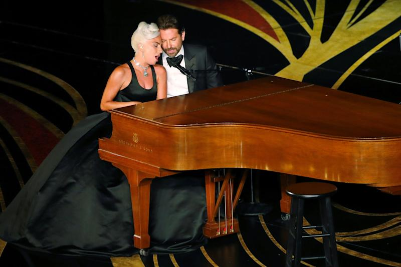 Speculation: Lady Gaga and Bradley Cooper preforming Shallow at the Oscars in February (Reuters)